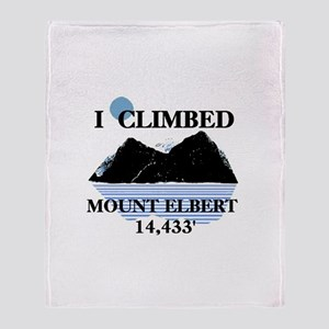 I Climbed Mount Elbert Throw Blanket