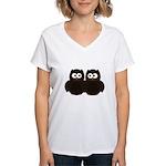 Unsure Owls Women's V-Neck T-Shirt
