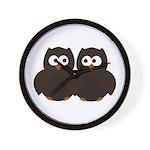 Unsure Owls Wall Clock
