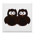 Unsure Owls Tile Coaster