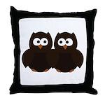 Unsure Owls Throw Pillow