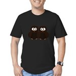 Unsure Owls Men's Fitted T-Shirt (dark)