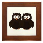 Unsure Owls Framed Tile