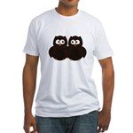 Unsure Owls Fitted T-Shirt