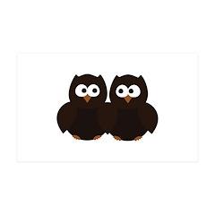 Unsure Owls 38.5 x 24.5 Wall Peel