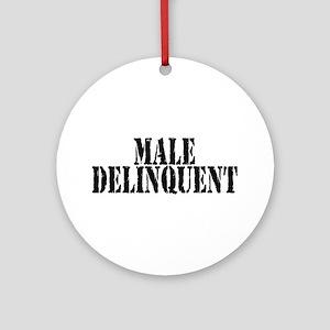 Male Delinquent - Design 6 Ornament (Round)