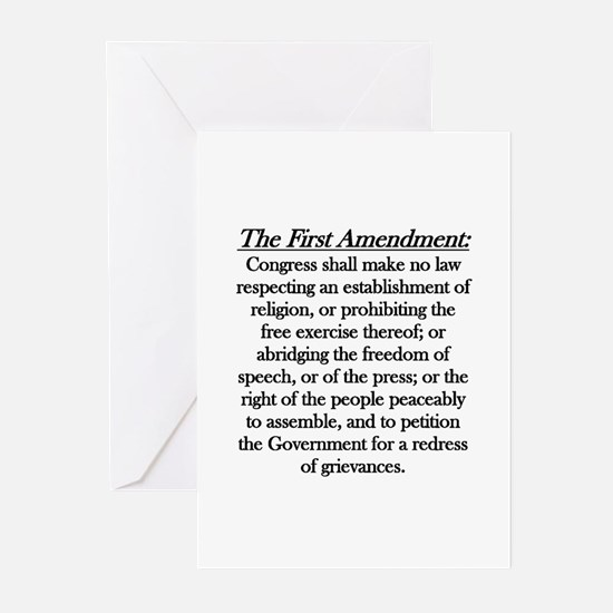 First Amendment Greeting Cards (Pk of 10)