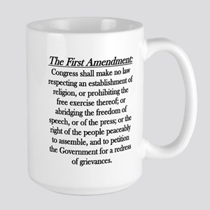 First Amendment Large Mug