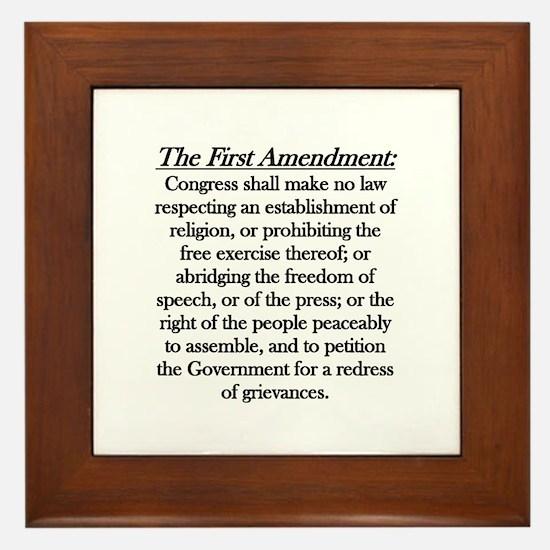 First Amendment Framed Tile