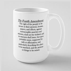 Fourth Amendment Large Mug