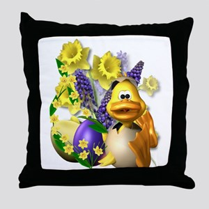 Daffy About Daffodils! Throw Pillow