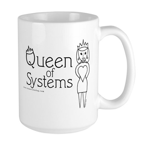 Queen of Systems Large Mug