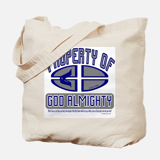 Property of God Almighty Tote Bag