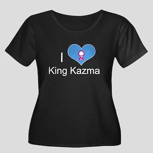 I love King Kazma Women's Plus Size Dark T-Shirt