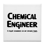 Chem Engineer Zombie Fighter Tile Coaster