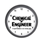 Chem Engineer Zombie Fighter Wall Clock
