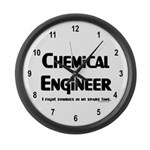 Chem Engineer Zombie Fighter Large Wall Clock