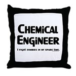 Chem Engineer Zombie Fighter Throw Pillow