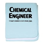 Chem Engineer Zombie Fighter baby blanket