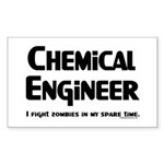 Chemical Zombie Fighter Sticker (Rectangle 50 pk)