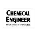 Chem Engineer Zombie Fighter Mini Poster Print
