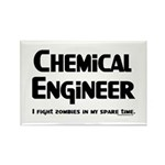 Chemical Zombie Fighter Rectangle Magnet (100 pack