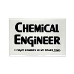 Chem Engineer Zombie Fighter Rectangle Magnet