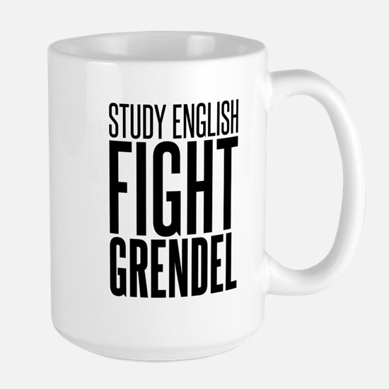 Study and Fight (English) Large Mug