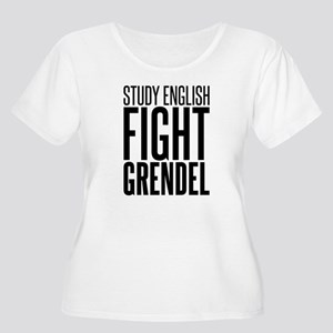 Study and Fight (English) Women's Plus Size Scoop