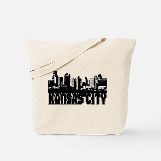 Kansas City Skyline Tote Bag