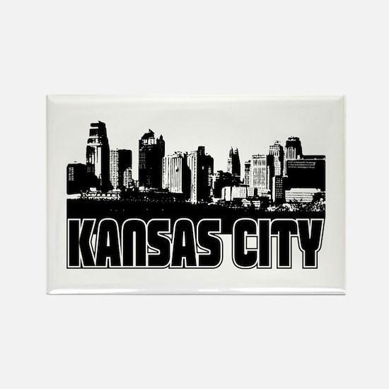 Kansas City Skyline Rectangle Magnet