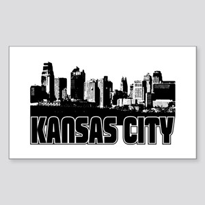 Kansas City Skyline Sticker (Rectangle)