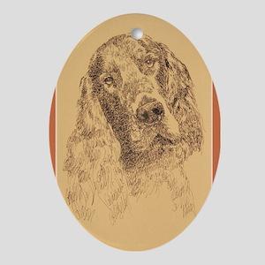 Gorden Setter Ornament (Oval)