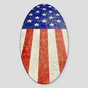 Old Glory... the Stars and St Sticker (Oval)