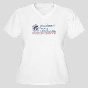 TSA Hands-On Women's Plus Size V-Neck T-Shirt