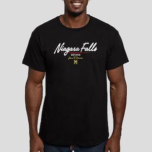 Niagara Falls Script Men's Fitted T-Shirt (dark)