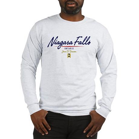 Niagara Falls Script Long Sleeve T-Shirt