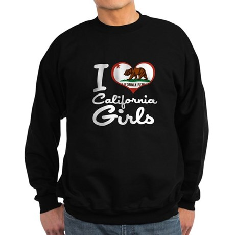 I Heart California Girls Sweatshirt (dark)
