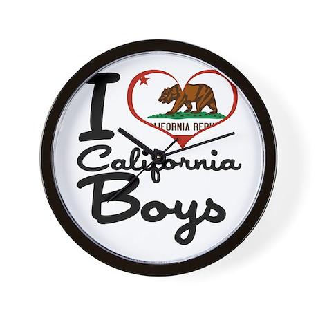 I Heart California Boys Wall Clock