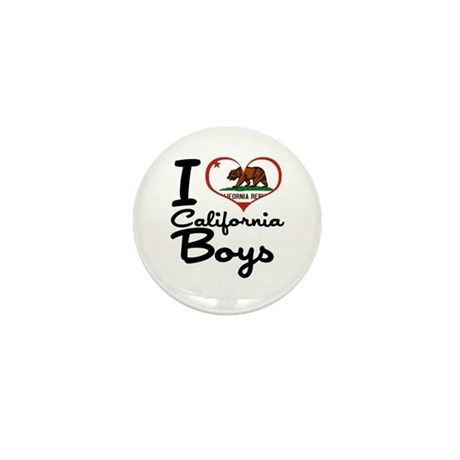 I Heart California Boys Mini Button (10 pack)