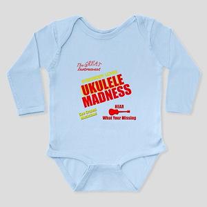 funny ukulele madness Long Sleeve Infant Bodysuit