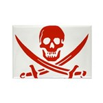 Pirates Red Rectangle Magnet (10 pack)
