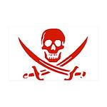 Pirates Red 38.5 x 24.5 Wall Peel