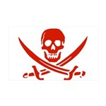 Pirates Red 38.5 x 24.5 Wall Peel