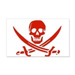 Pirates Red 22x14 Wall Peel