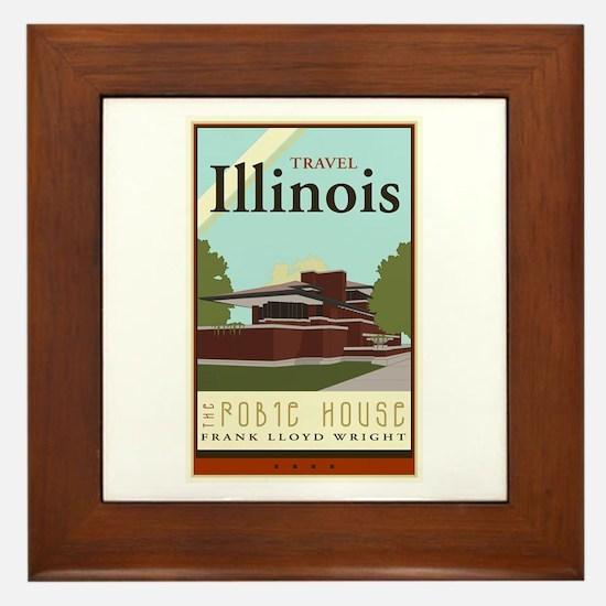 Travel Illinois Framed Tile