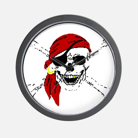 Pirate Skull Wall Clock