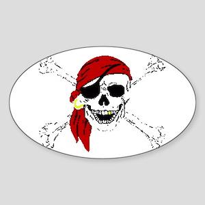 Pirate Skull Sticker (Oval)