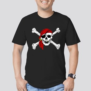 Pirate Skull Men's Fitted T-Shirt (dark)