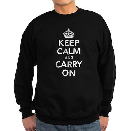 Keep Calm Carry On Sweatshirt (dark)